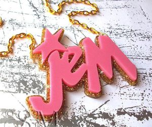 fashion, jem and the holograms, and necklace image