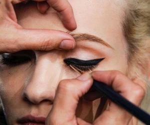 eyeliner, make up, and model image