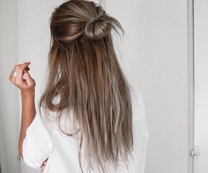 brunette, girl, and hairstyle image