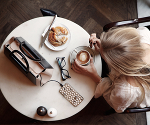 coffee, blonde, and breakfast image