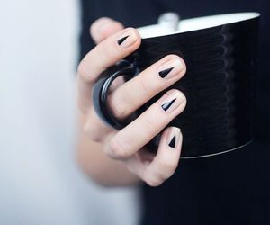 black, manicure, and nail image