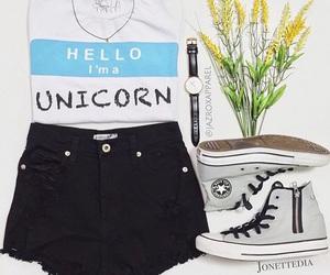 outfit, fashion, and unicorn image