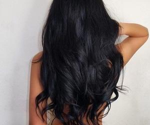 beauty, black hair, and hair image