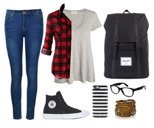 backpack, fashion, and jeans image