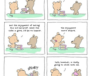 funny, bear, and cake image
