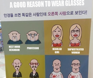 funny, glasses, and humor image