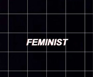 aesthetic, feminist, and grunge image