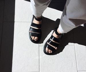 black, dr martens, and sandals image