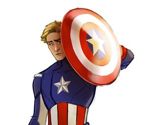 art, fanart, and captain america image