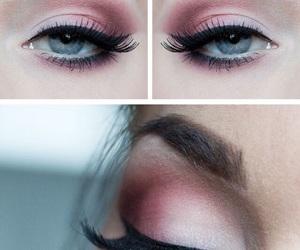 eyebrows and eyeliner image