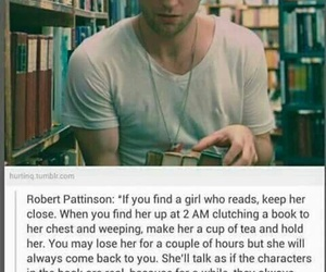 book, robert pattinson, and read image