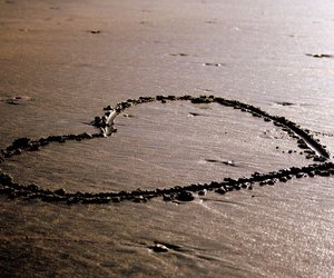 beach, happiness, and heart image