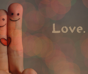 fingers, heart, and smile image
