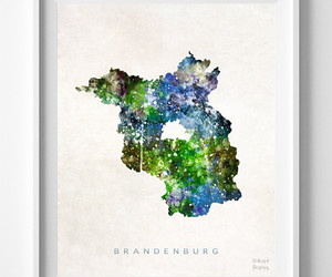 germany, map, and print image