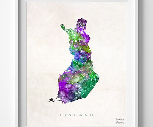 finland, map, and print image
