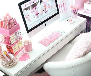 decor, girly, and office image