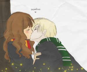 fan art, hermione, and draco image