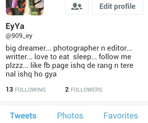 follow, twitter, and love image