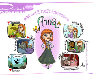 anna, frozen, and pocket princesses image