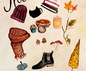 art, drawing, and autumn image