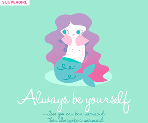 coloured hair, quote, and mermaid hair image