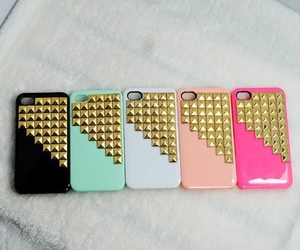 studs, case, and iphone image
