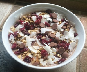 cereal, coconut, and fruit image