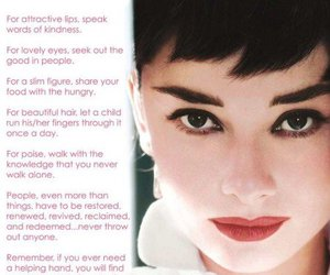 audrey hepburn, beauty, and quote image