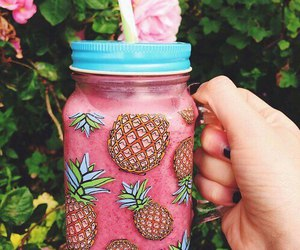pink, summer, and drink image