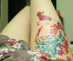 studio ghibli, tattoo, and totoro image