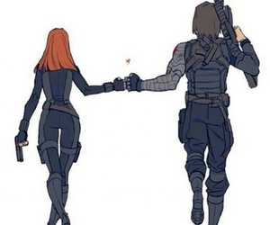 black widow and winter soldier image