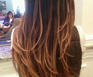 hair, ombre, and long image