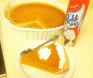 pie, whip, and pumpkin image