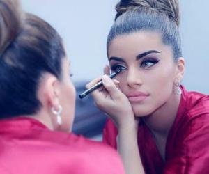 girl, make up, and beautiful image