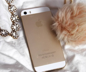 iphone, diamond, and gold image