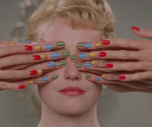 blonde, colorful, and nails image
