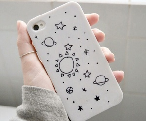 galaxy, phone case, and grunge image