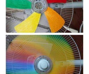 diy, rainbow, and fan image