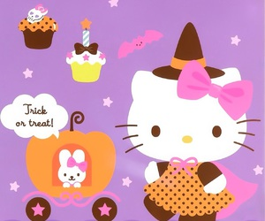 Halloween, hello kitty, and sanrio image