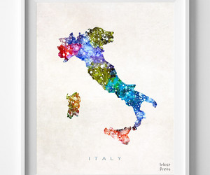 italy, map, and print image