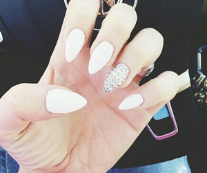 tumblr, white, and nailart image