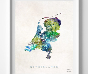map, print, and netherlands image