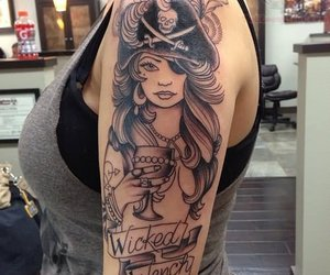 pirate, tattoo, and wicked wench image