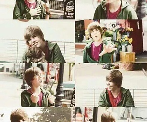 girl, justin, and bieber image