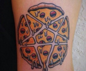 pizza and tattoo image