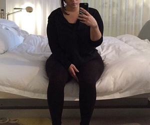 model, plus size, and nadia aboulhosn image