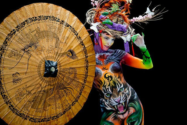 art, bodyart, and bodypainting image
