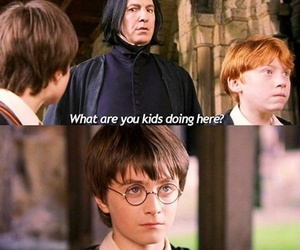 fun, harry potter, and ron weasley image
