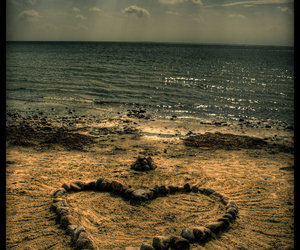 amazing, beach, and heart image