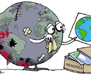 world, sad, and earth image